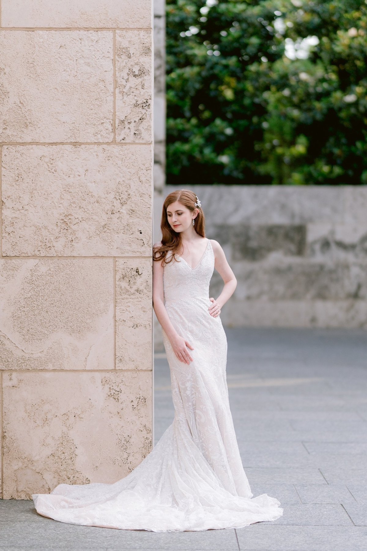 dallas nasher sculpture gardens wedding day portraits