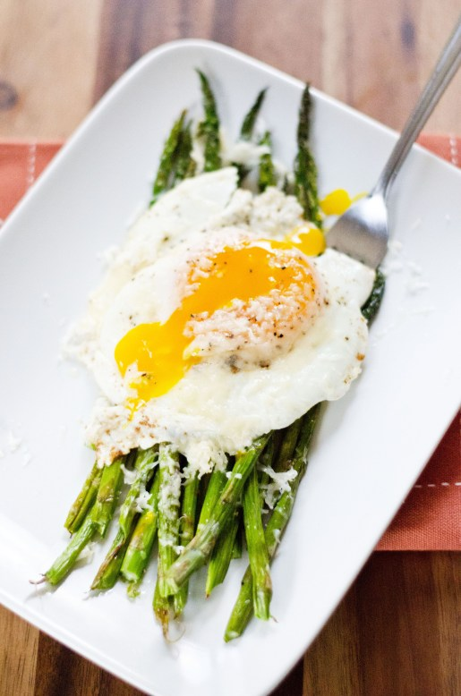 Asparagus With Fried Eggs and Parmesan Cheese | Amy Kay's Kitchen