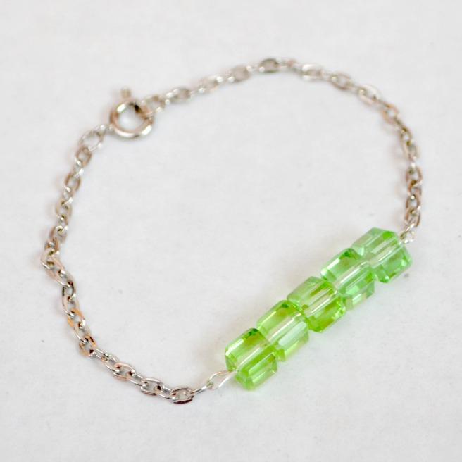 Green Half-Beaded Bracelet