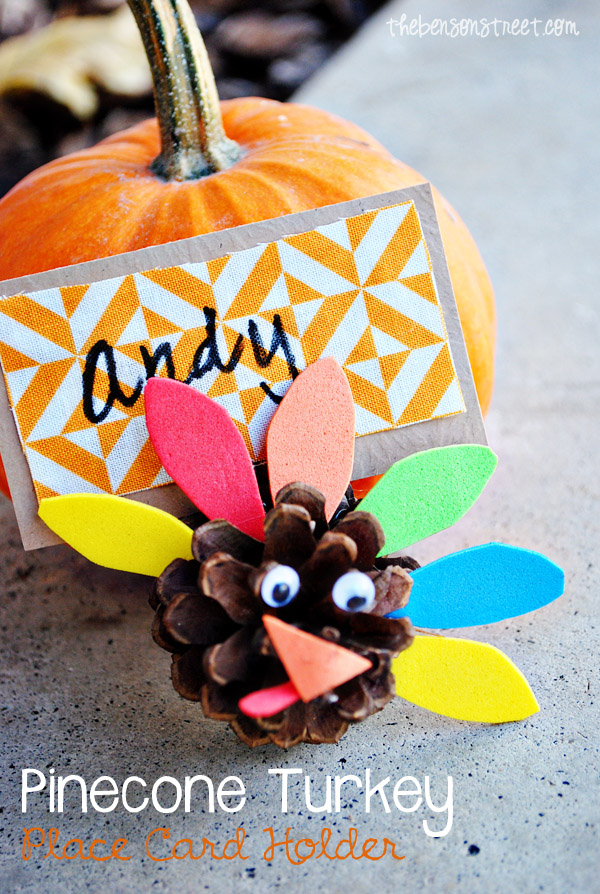 Pinecone Turkey Place Card Holders at thebensonstreet.com