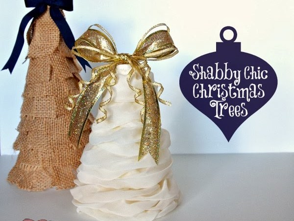 DIY Shabby Chic Christmas Trees by One Tough Mother