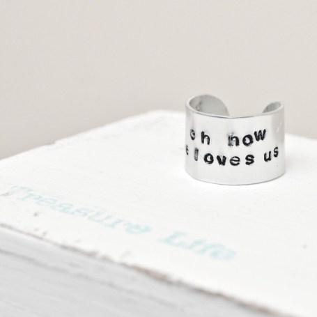 Handstamped Ring