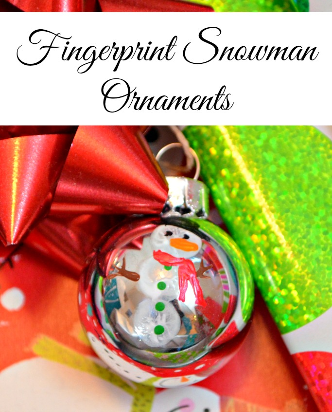 Fingerprint Snowman Ornaments