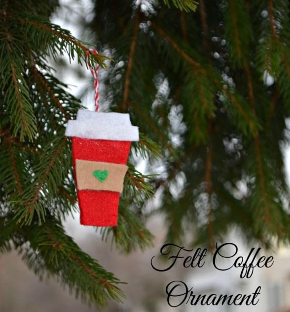 Felt Coffee Ornament