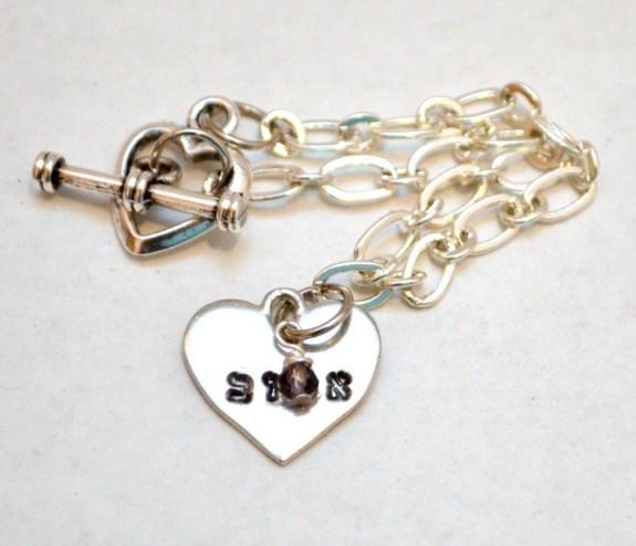 Hebrew Beloved Heart Bracelet