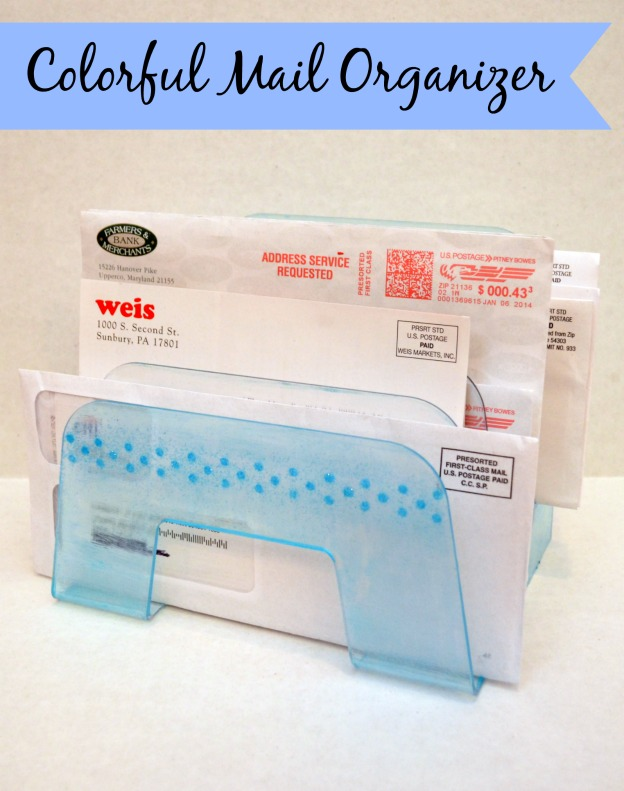 Mod Podge Sheers: Mail Organizer