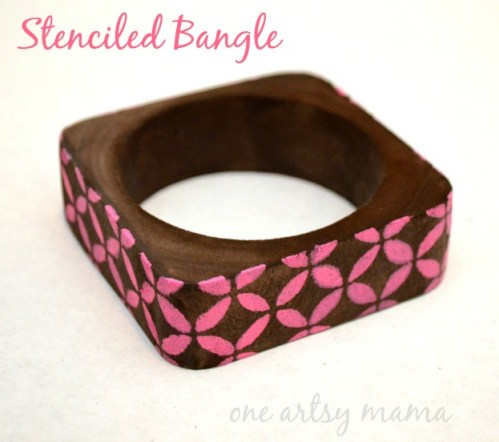 Stenciled Bangle
