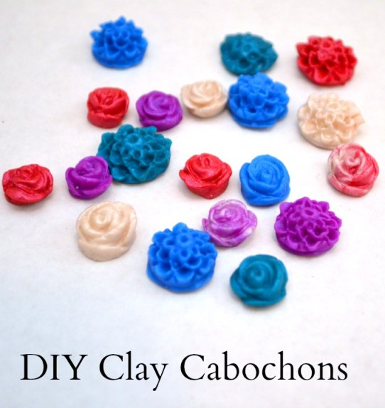 Clay Cabochon Flowers