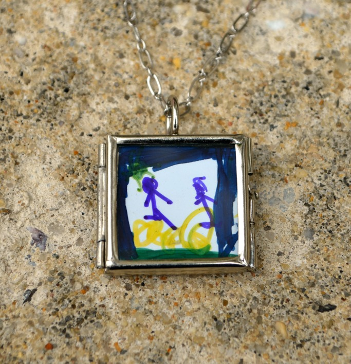 Mother's Day Locket with child's art