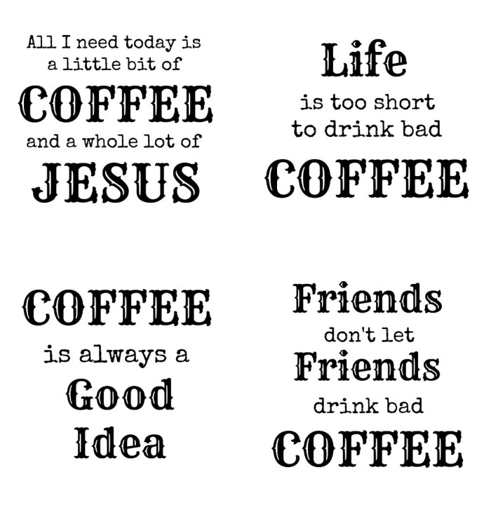 Coffee Coasters Printable