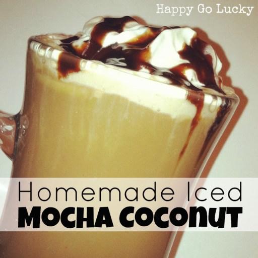 homemade iced mocha coconut