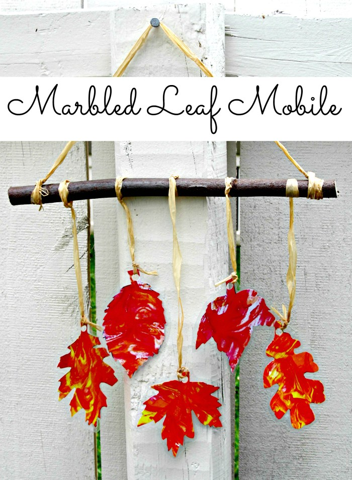Marbled Leaf Mobile