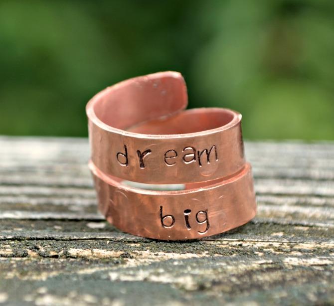 Stamped Wrap Ring