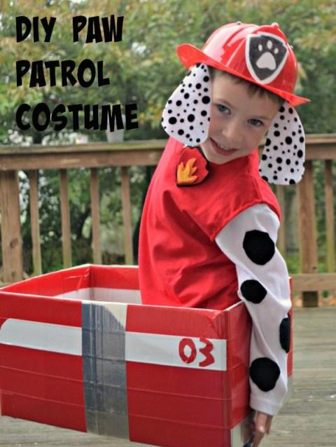 DIY Paw Patrol Marshall Costume