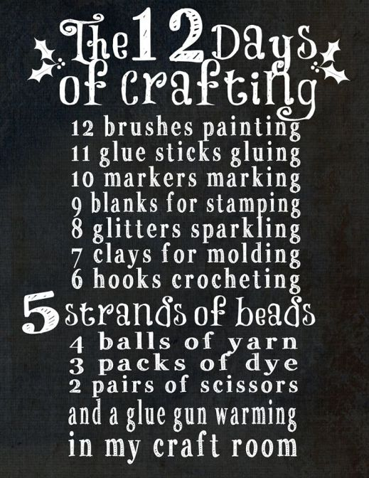 12 Days of Crafting