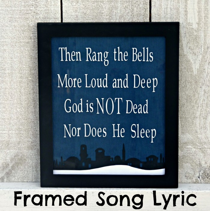 Framed Christmas Lyric