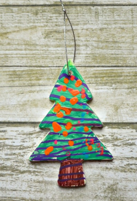 Painted Clay Ornament