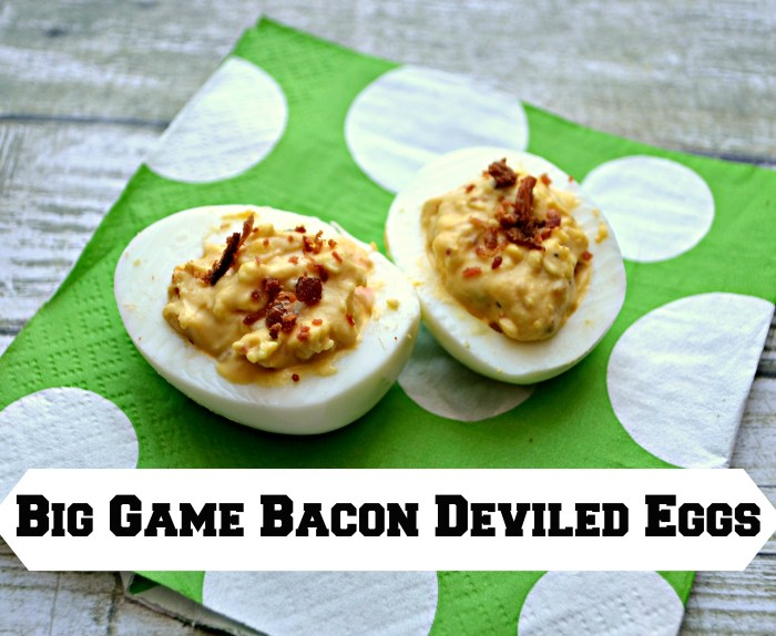 Big Game Bacon Deviled Eggs