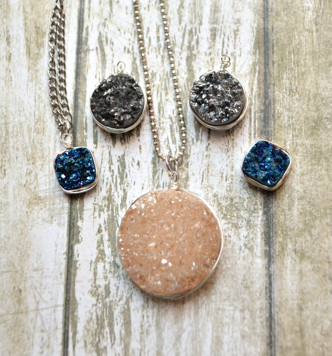 Wire Wrapped Druzy Jewelry
