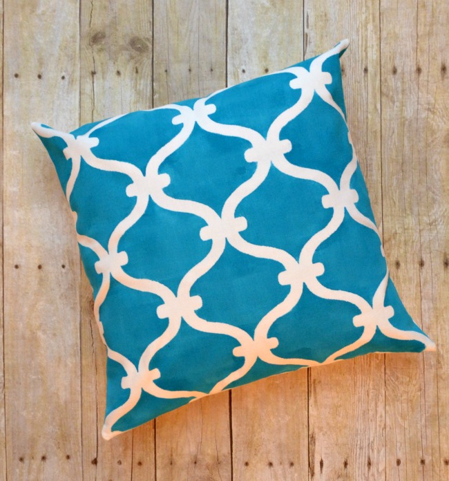Stenciled DIY Pillow