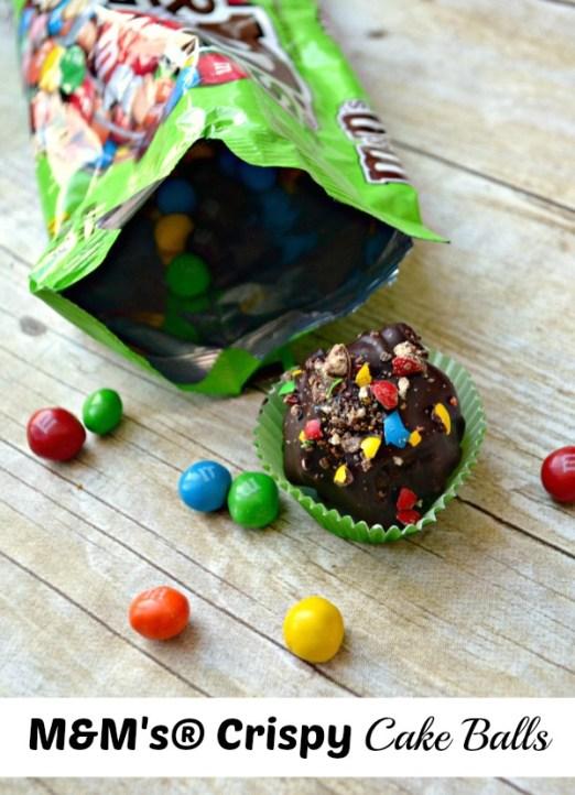 M&M's Crispy Cake Balls