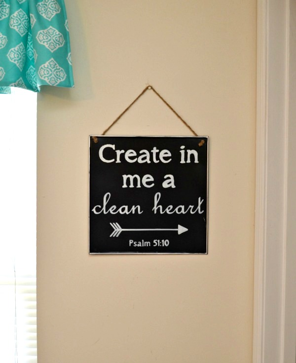 Chalkboard Sign with Scripture