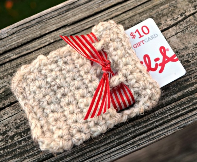 Crochet Gift Card Holder with Ribbon