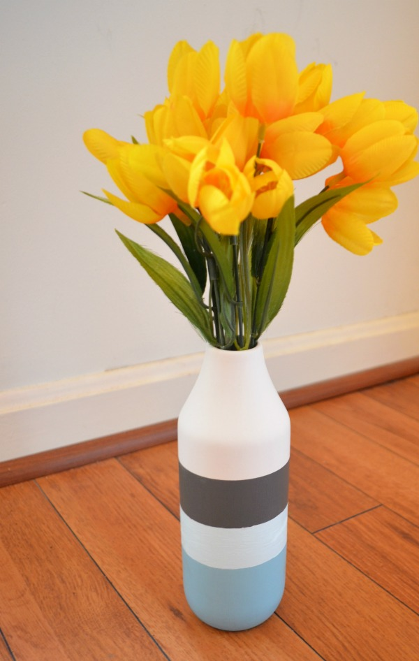 Painted Striped Vase