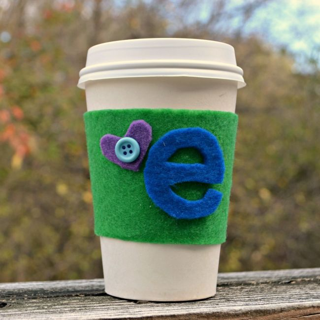 No Sew Felt Coffee Cozy