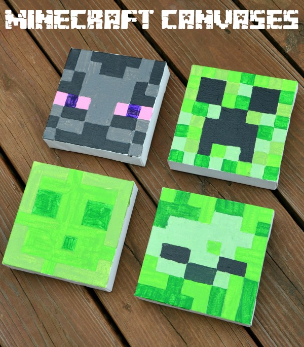 Minecraft Canvas Paintings