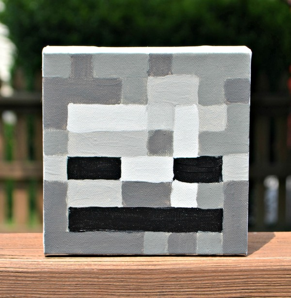 Minecraft Skeleton Canvas
