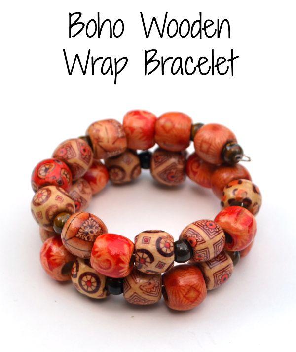 Boho Wooden Wrap Bracelet