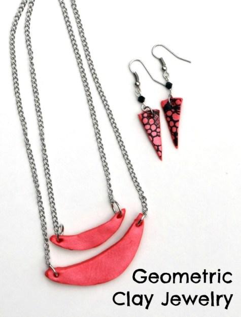 Geometric Clay Jewelry