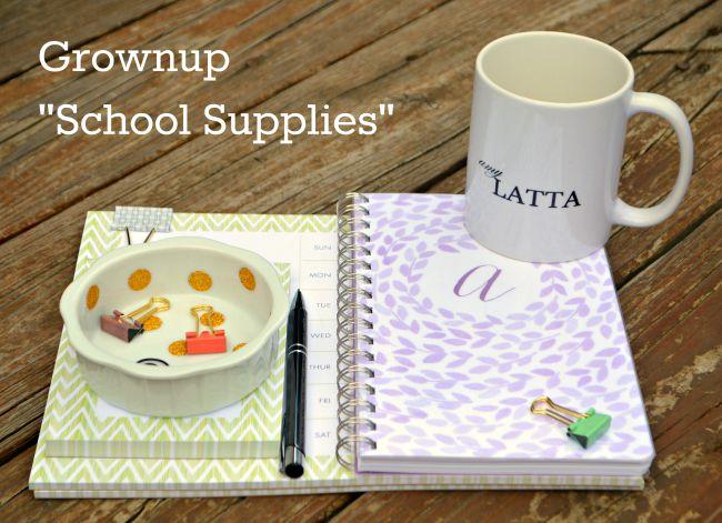Grownup School Supplies