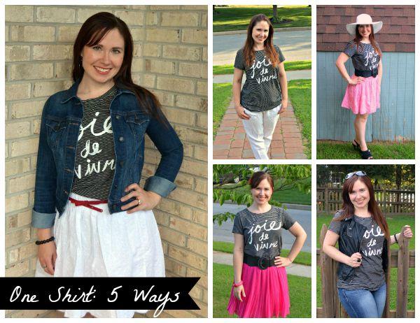 One Shirt: 5 Ways
