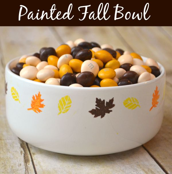 Painted Fall Bowl