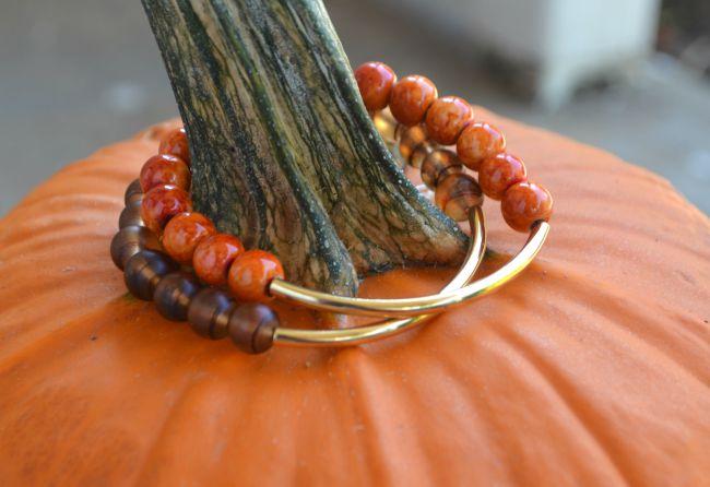 Fall Beaded Bracelets