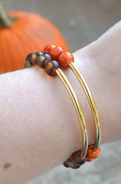 Fall Beaded Statement Bracelets