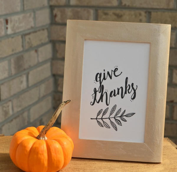 Give Thanks Print in Frame