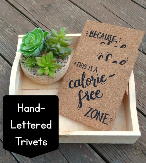 Hand Lettered Trivets