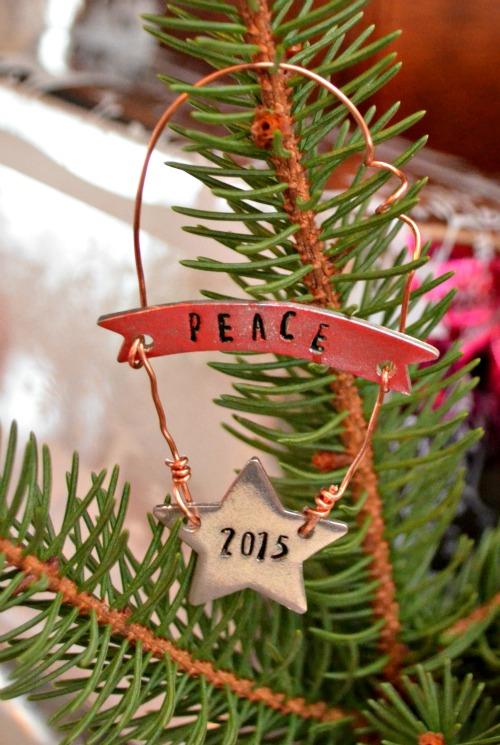 Metal Stamped Ornament