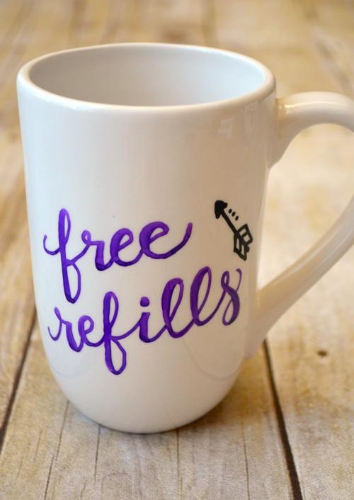 Free Refills coffee mug