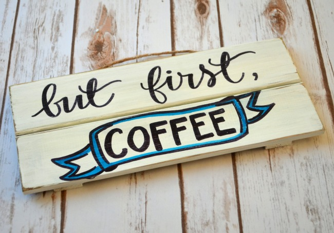 Hand Lettered Coffee Sign