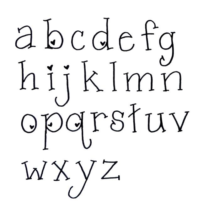 Valentine Hand Lettering Font - Amy Latta Creations