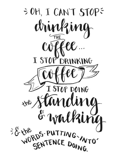 coffeeletteringprintable