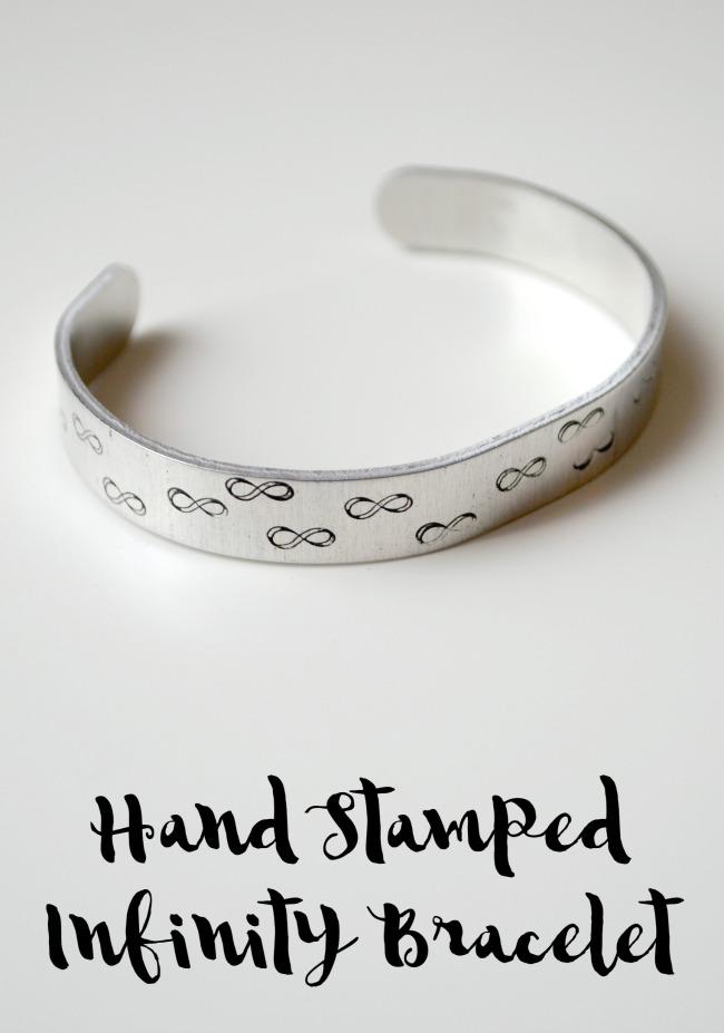 Hand Stamped Infinity Bracelet