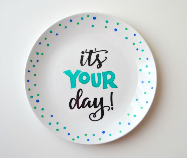 Hand Lettered Plate