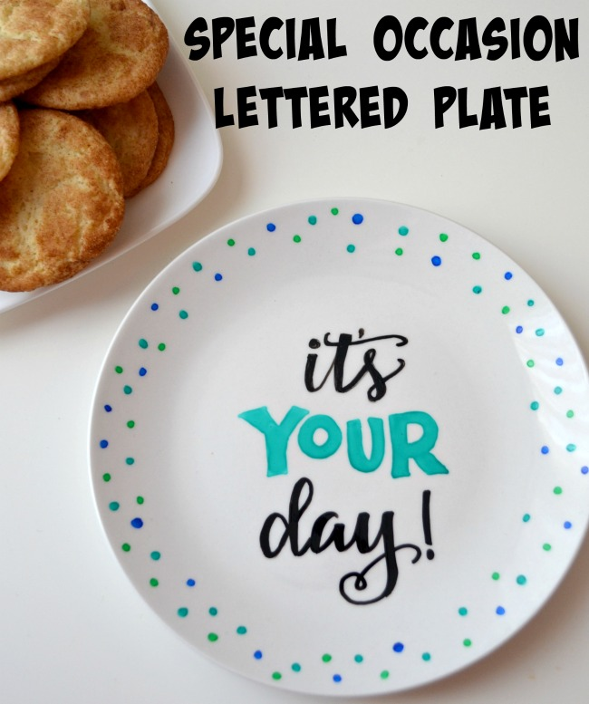 Special Occasion Lettered Plate