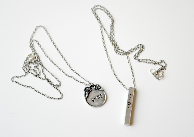 Metal Stamping Necklaces