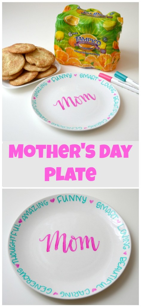 Mother's Day Hand Lettered Plate Gift
